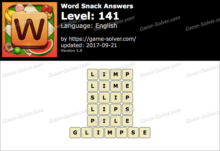 Word Snack Level 141 Answers