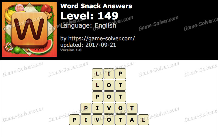 Word Snack Level 149 Answers