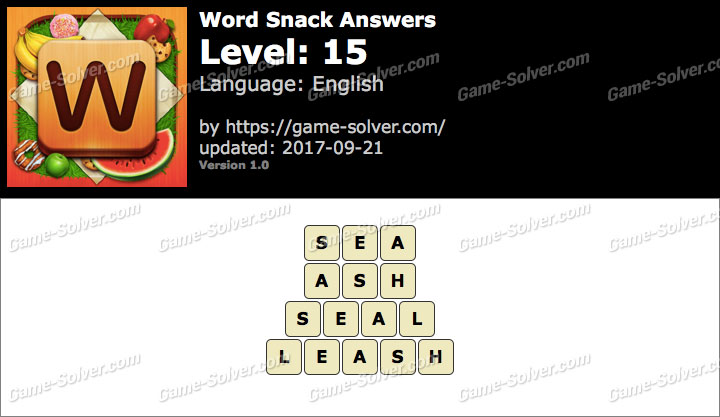 Word Snack Level 15 Answers