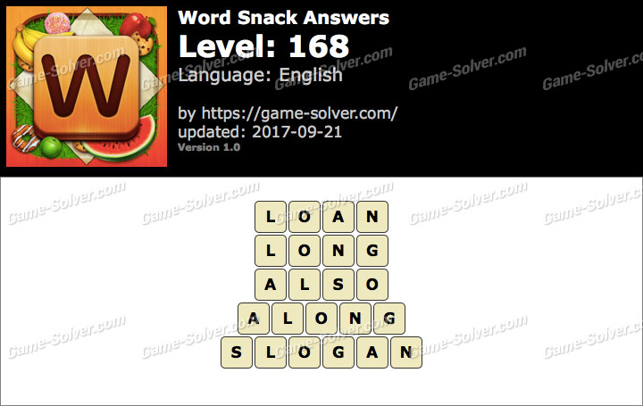 Word Snack Level 168 Answers