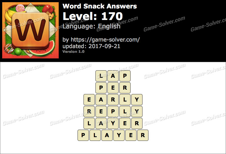 Word Snack Level 170 Answers
