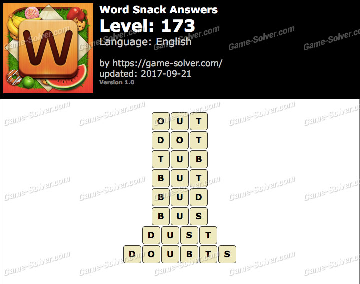 Word Snack Level 173 Answers