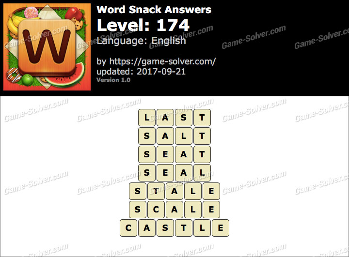 Word Snack Level 174 Answers