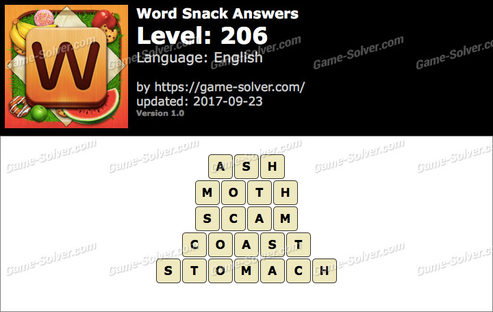 Word Snack Level 206 Answers