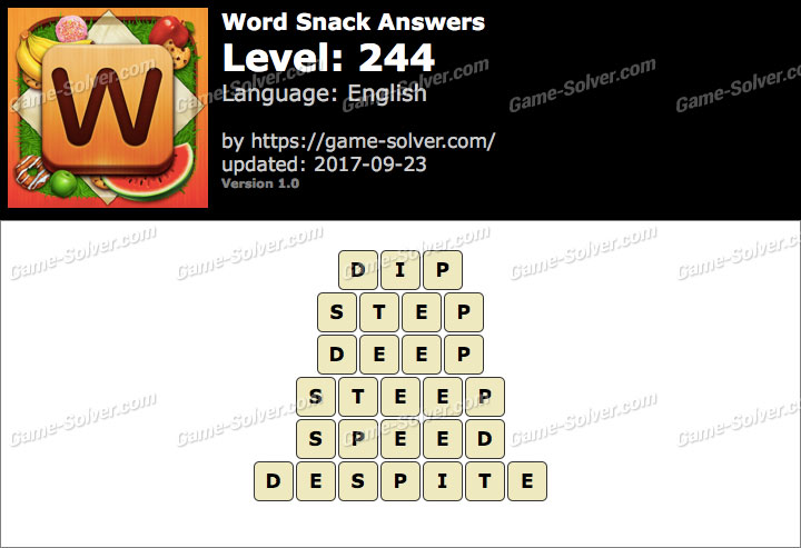 Word Snack Level 244 Answers