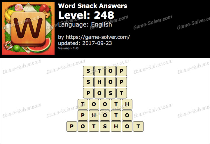 Word Snack Level 248 Answers