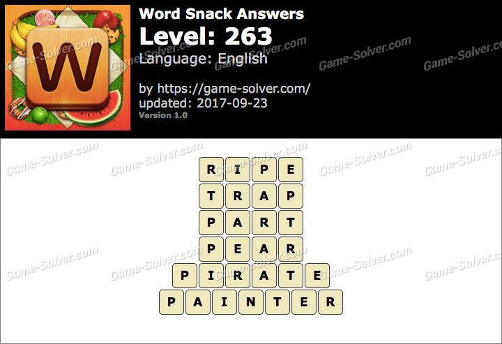 Word Snack Level 263 Answers