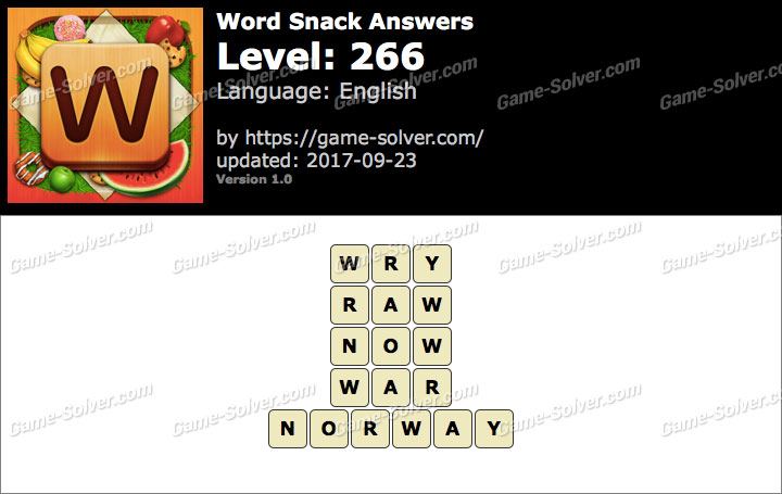 Word Snack Level 266 Answers