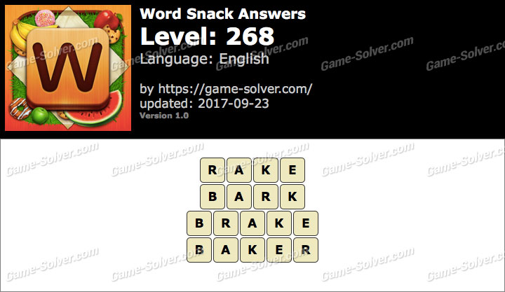Word Snack Level 268 Answers