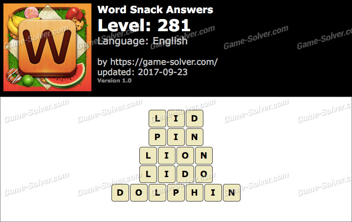 Word Snack Level 281 Answers