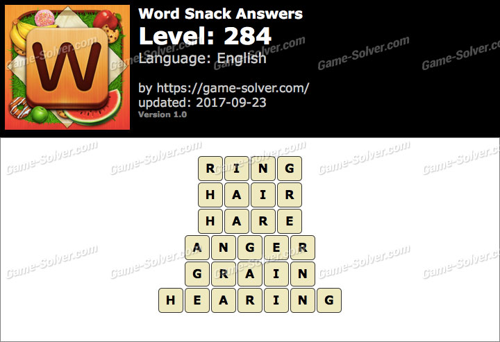 Word Snack Level 284 Answers