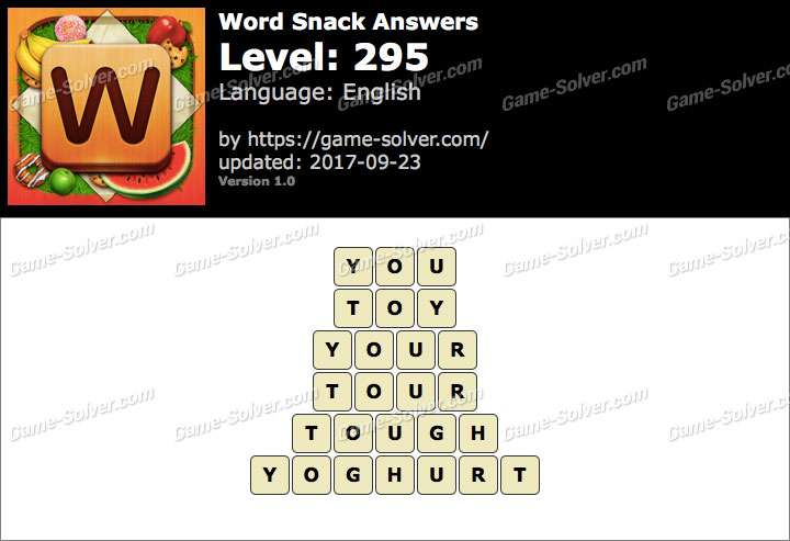 Word Snack Level 295 Answers
