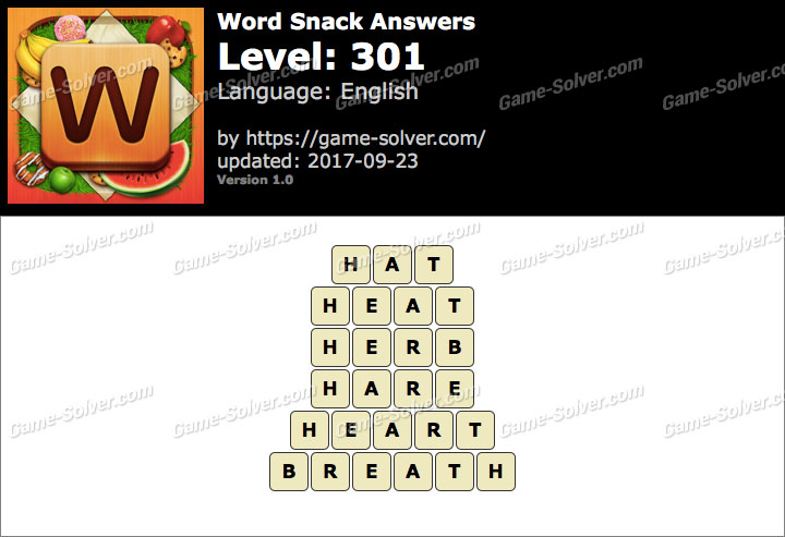 Word Snack Level 301 Answers