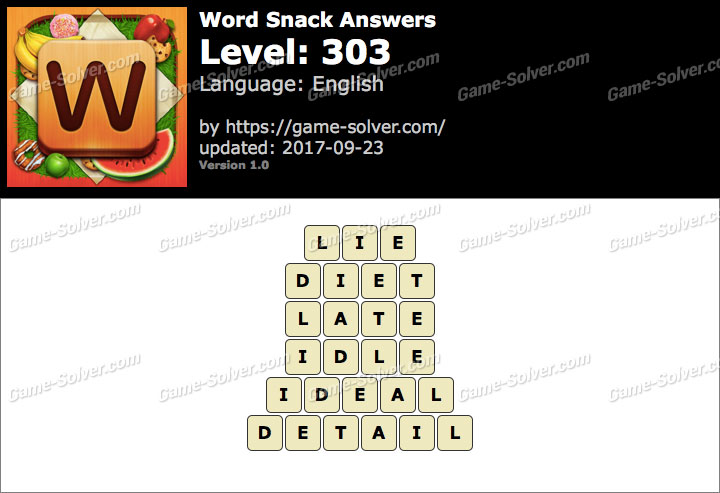 Word Snack Level 303 Answers
