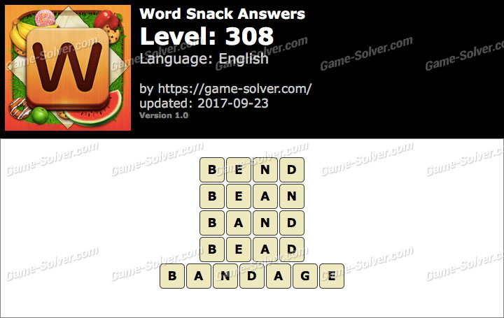 Word Snack Level 308 Answers