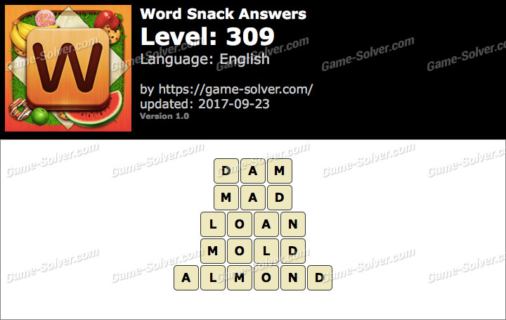 Word Snack Level 309 Answers