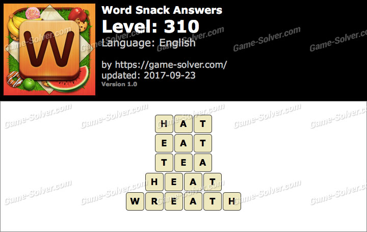 Word Snack Level 310 Answers