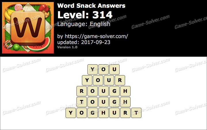 Word Snack Level 314 Answers