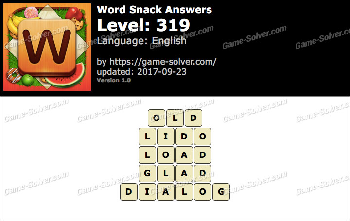Word Snack Level 319 Answers
