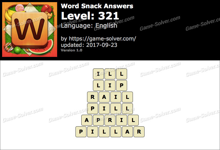 Word Snack Level 321 Answers
