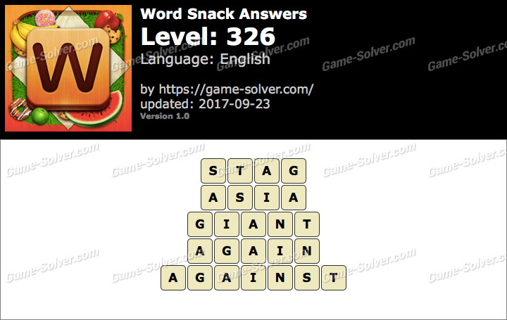 Word Snack Level 326 Answers