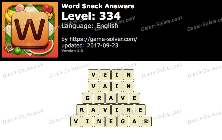 Word Snack Level 334 Answers