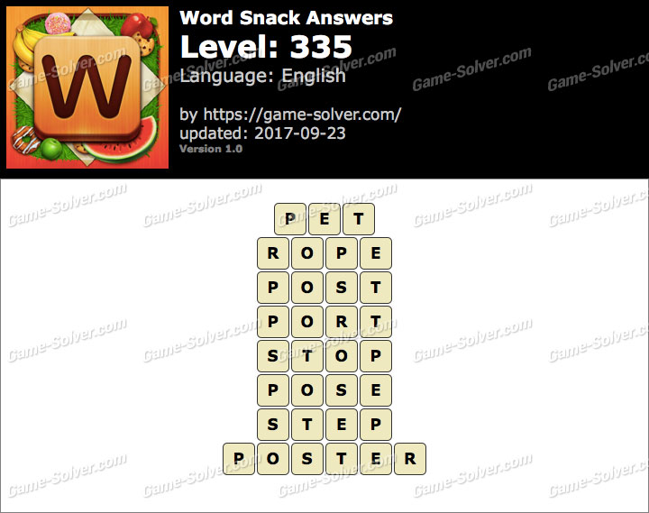 Word Snack Level 335 Answers