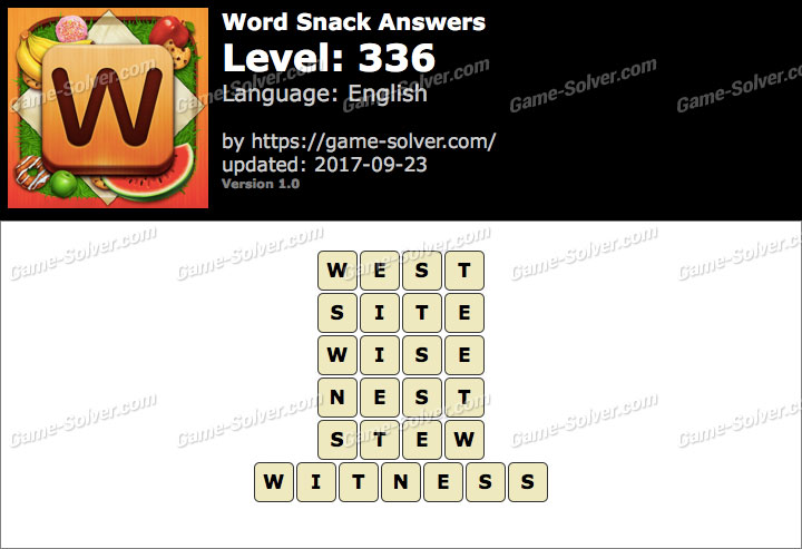 Word Snack Level 336 Answers