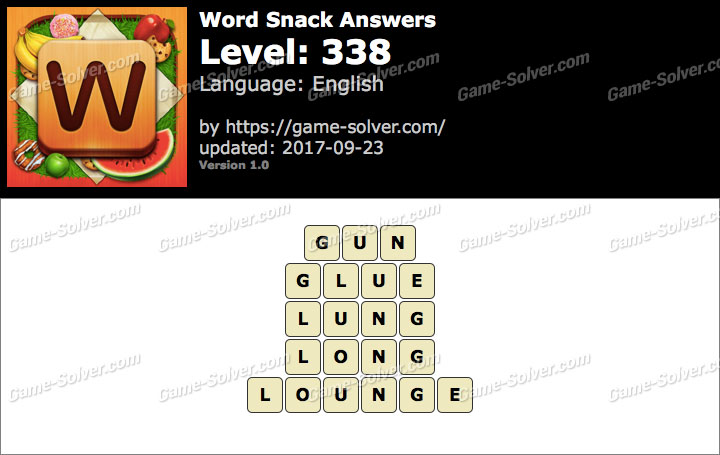 Word Snack Level 338 Answers