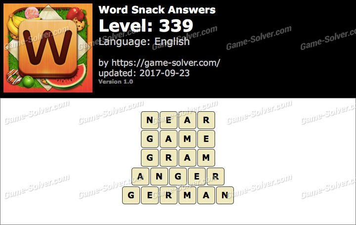 Word Snack Level 339 Answers