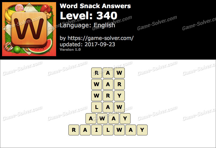 Word Snack Level 340 Answers