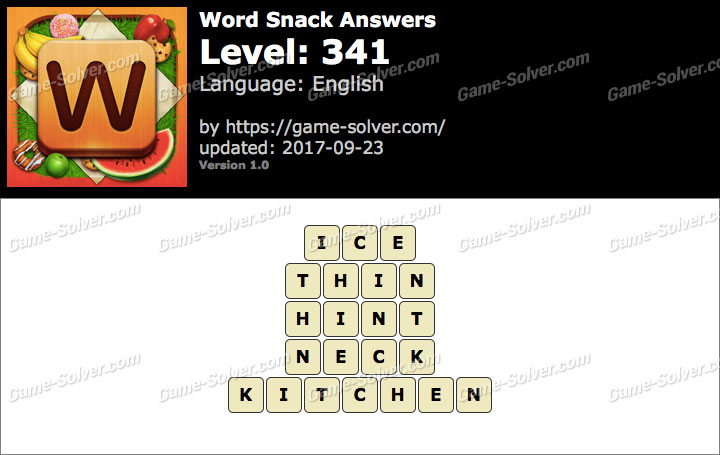 Word Snack Level 341 Answers