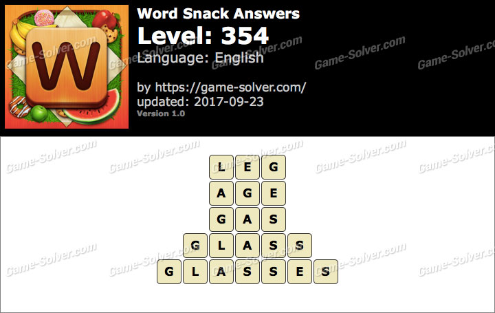 Word Snack Level 354 Answers