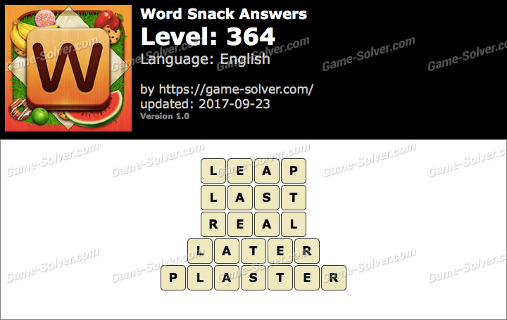 Word Snack Level 364 Answers