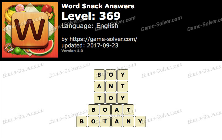 Word Snack Level 369 Answers