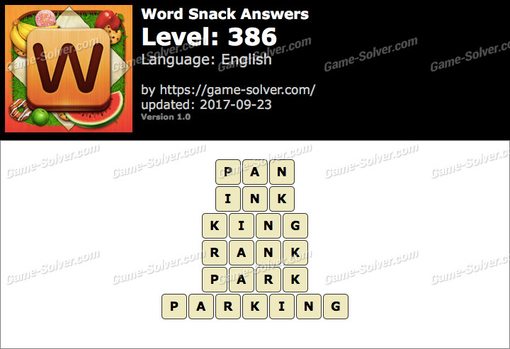 Word Snack Level 386 Answers