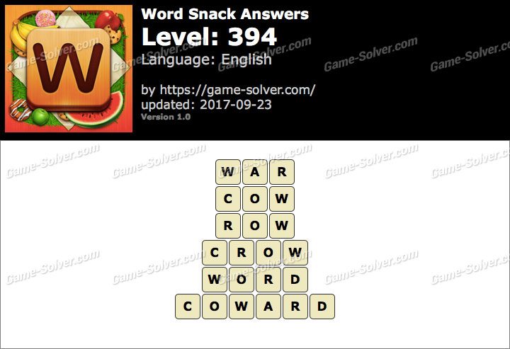 Word Snack Level 394 Answers
