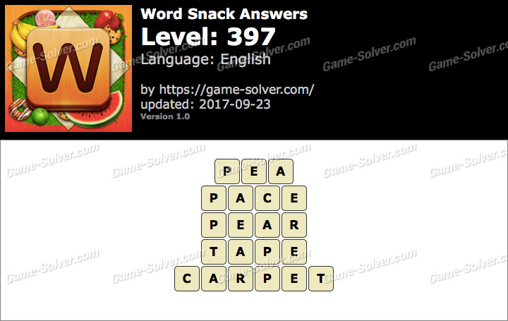 Word Snack Level 397 Answers