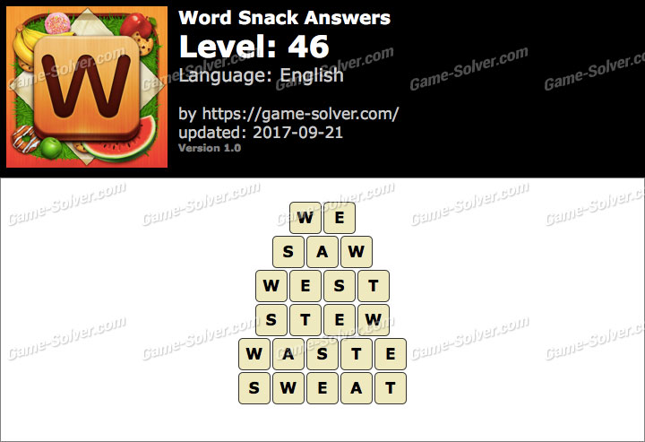 Word Snack Level 46 Answers
