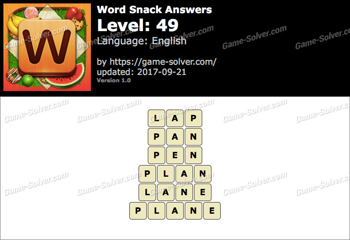 Word Snack Level 49 Answers