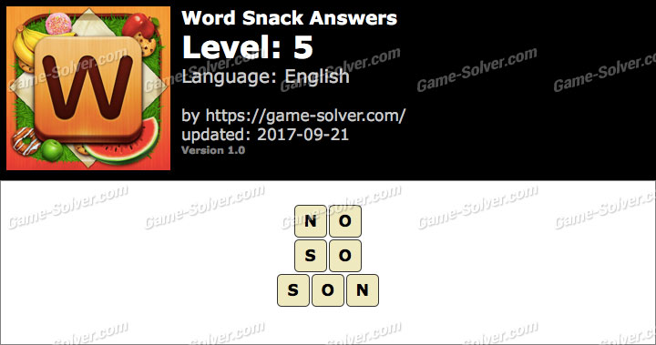 Word Snack Level 5 Answers