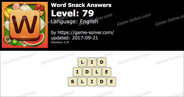 Word Snack Level 79 Answers