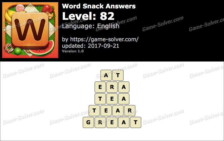Word Snack Level 82 Answers