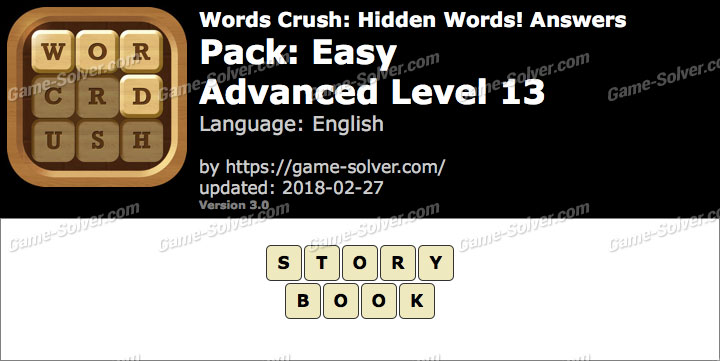 Words Crush Easy-Advanced Level 13 Answers