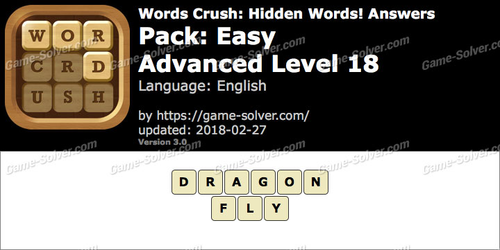 Words Crush Easy-Advanced Level 18 Answers