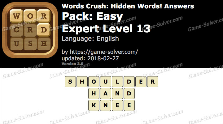 Words Crush Easy-Expert Level 13 Answers