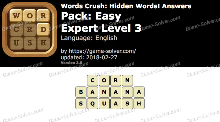 Words Crush Easy-Expert Level 3 Answers