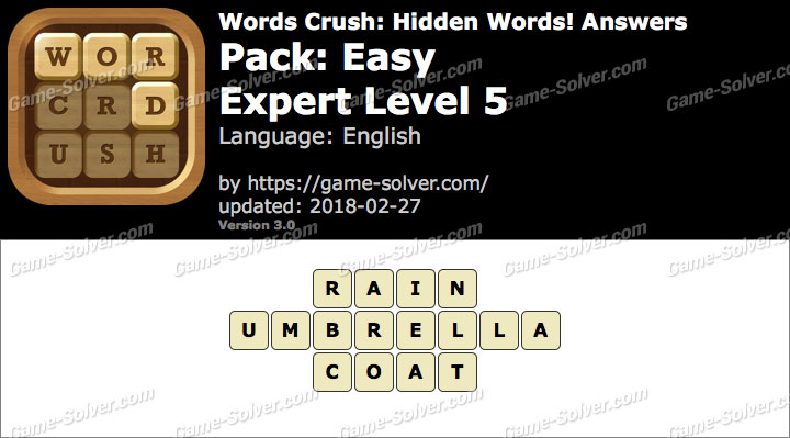 Words Crush Easy-Expert Level 5 Answers
