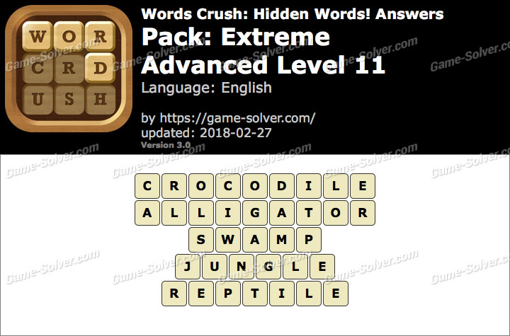 Words Crush Extreme-Advanced Level 11 Answers