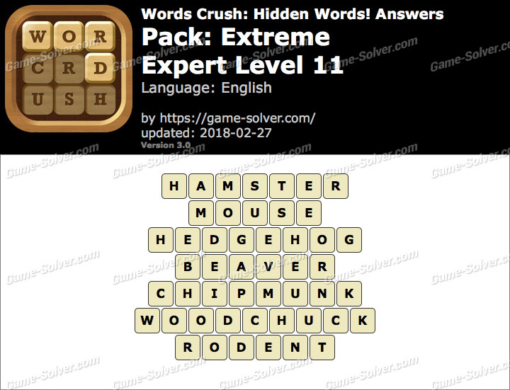 Words Crush Extreme-Expert Level 11 Answers